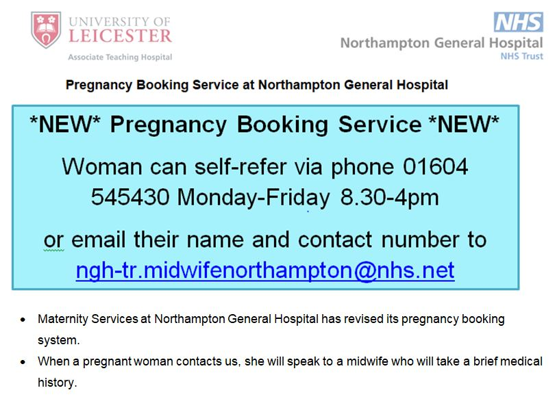 NEW Pregnancy Booking Service